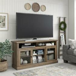 Ameriwood Home Chicago Tv Stand For Tvs Up To 65 In Rustic Oak