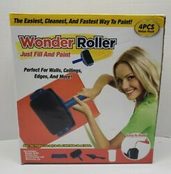 New Wonder Roller Paint Roller /tray/ Pad/ Measuring Jug /4 Pieces