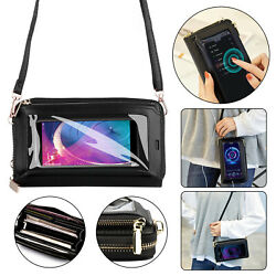 Touch Screen Bag Crossbody Cell Phone Purse Case Shoulder RFID Blocking Wallet $16.98