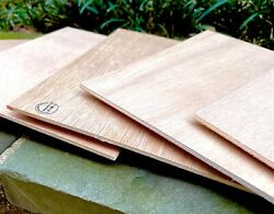 Spanish Cedar Plywood sheets 8 x 7 inches 5 Pieces