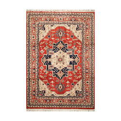 8and0392and039and039 X 11and0399and039and039 Hand Knotted 100 Wool Rare Romanian Herizz Area Rug Burnt Orange