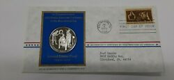 1972 Postmasters Of America Commemorative Silver Medal Colonial Glassblowers