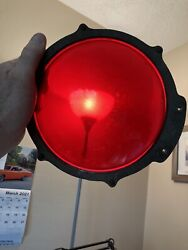 Old Rr Train Railroad Crossing Semaphore Arm Warning Red Lens And Mounting Bracket
