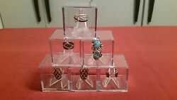 Championship Ring Display Case Box Stand Holder Cube World Series Super Bowl