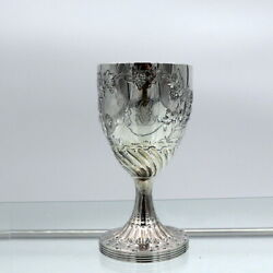 18th Century Antique George Iii Sterling Silver Wine Goblet London1788 H Chawner