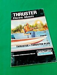 Mercury Thruster Electric Outboard Operation/maintenance Manual Models Rc Dm Tm