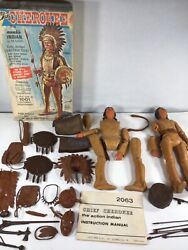 Vintage Marx Chief Cherokee Indian Action Figure Lot