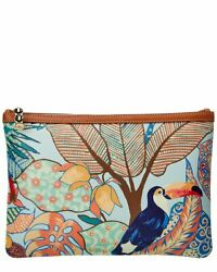 J.Mclaughlin Gabi Leather Clutch Women#x27;s Blue $69.99