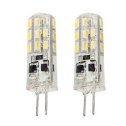 G4 Warm White 24x Led Light Lamp Bulb Dc 12v For Car Truck Boat Rv 2 Pin 3000lm