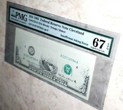 👉pmg 67👈 1985 Andbull 50 Andbull Federal Reserve Note Cleveland Andbull Insufficient Ink Error