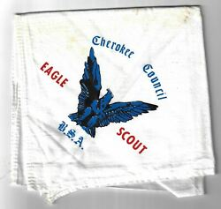 Bsa Eagle Scout Cherokee Council Bsa Neckerchief Stained [mx-3423]