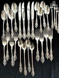 New 28 Pc Set For 4 Oneida Raphael Stainless Flatware Distinction Deluxe 7 Pc