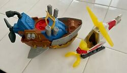 Playskool Marvel Super Heroes Falcon Talon Helicopter And Imaginext Pirate Ship