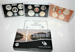 2013 S Us Mint 14 Coin Silver Proof Set With Box And Coa