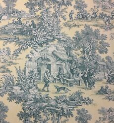 Kravet Scenic Toile 540 Pale Yellow Country French Toile Fabric 2.75 Yard 54w