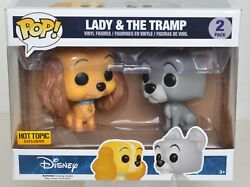 Funko Pop 'disney' Lady And The Tramp Vinyl Figure 2-pack Hot Topic Exclusive Nrfb