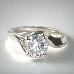 Coupe Ronde 0.50 Carat Real Diamond Engagement Ring 950 Platine Taille L M L- P1