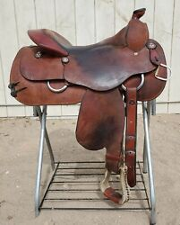 Billy Royal 16quot; quot;Comfort Classic IIquot; Rough Out Work Saddle