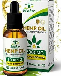 High-strength-hemp-oil-5000mg, 100 Pure-natural, Pain-stress-anxiety-relief