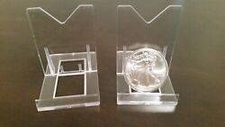 10 Adjustable 3-1/8 Display Stand Easel Coin Pcgs Ngc Air-tite Capsule