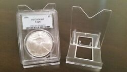 20 Adjustable 3-1/8 Display Stand Easel Coin Pcgs Ngc Air-tite Capsule