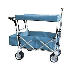 Collapsible Foldable Wagon PULL Stroller Cart Utility Buggy Canopy BEACH WHEELS $174.95