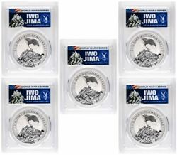 2020 1 Iwo Jima 75th Anniversary 1oz Silver Coin Pcgs Ms70 Fdi - Lot Of 5