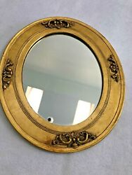 Vintage Gesso And Wood Gold Picture Frame W Mirror 13 X 11andrdquo