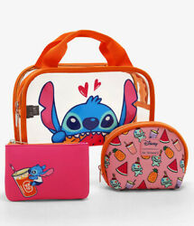 Our Universe Disney Lilo amp; Stitch Fruit Cosmetic Bag Set of 3 New with Tag $28.50