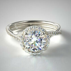 0.30 Ct Real Diamond Engagement Semi Mount Band Solid 950 Platinum Ring Size 7 8