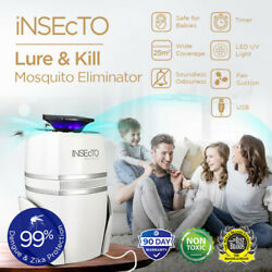 Uv Led Mosquito Fly Bug Insect Trap Indoor Pest Control Eco-friendly Child Safe