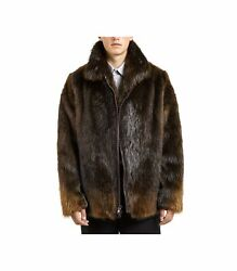Beaver Fur Coat For Mens, All Sizes Available