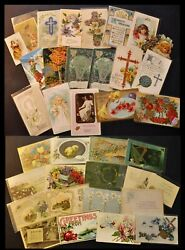 Lot Of 36 Post Cards Greetings - A Happy Easter 1900th Bi82/200422-my