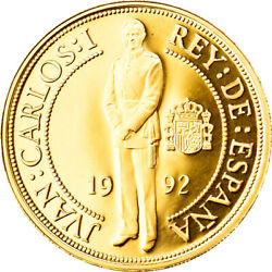 [906194] Coin Spain Juan Carlos I 40000 Pesetas 1992 Madrid Ms Gold