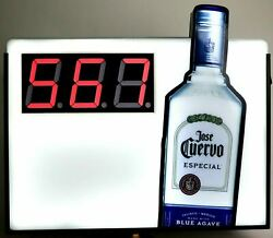 Jose Cuervo Tequila Double Sided Countdown Lighted Interchangeable Bar Sign