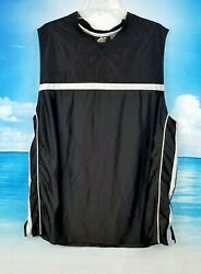Athletech Mens Black Athletic Workout Sports Shirt Breathable Stretch Size Xl