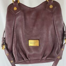 Marc By Marc Jacobs Francesca Womens Handbag Plum Pocket Detachable Strap New $104.99