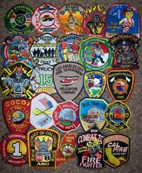 Clearance Set 61 - 25 Total Fire Patch Set No Duplicates In Set