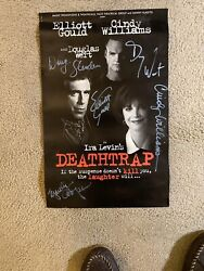 Ira Levinandrsquos Deathtrap Stage Poster Signed By Cast - Excellent