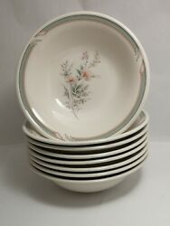 Set Of Eight Like New Noritake Pennfield 9172 7 Coupe Cereal / Soup Bowls