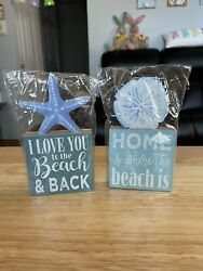 Wooden Beach Signs Love You To The Beach and Back amp; Home is Where The Beach Is $12.00