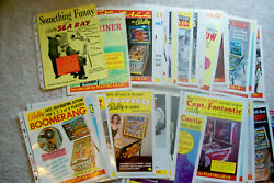 Bally Pinball Flyers-complete Set Of 37 Different 1971-77 Em Flyers-pick-up Only
