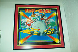 Original Backglass Painting Used On Ballyand039s Beat The Clock Pinball -pick-up Only
