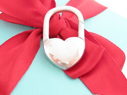 And Co Silver Vintage Heart Keychain Key Chain Ring