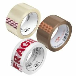 Packing Parcel 2 4 6 12 36 Tape Brown Clear Fragile 48mm X 66m Rolls Box Sealing