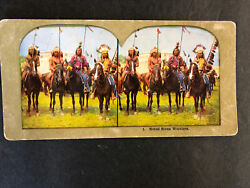 Vintage Lot Of 4 American Indian And Igorots Philippine Natives Stereoviews Horses
