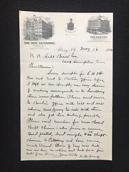 Antique 1904 Albany New York The New Kenmore Letter With Graphic Letter Head