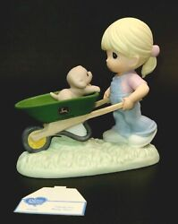 John Deere Precious Moments Thanks For Being There Girl And Wheelbarrow 840040