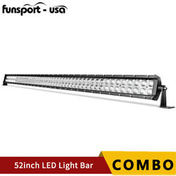 52inch 300w Led Work Light Bar Spot Flood Combo Driving Roof Offroad Suv Truck