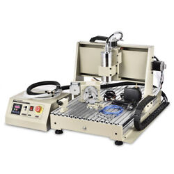 4 Axis Usb 6040z Cnc Router Engraver Wood Drill/milling Machine Usb 1.5kw New